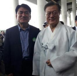 제74회 광복절 경축식 (문재인 대통령과 현덕…
