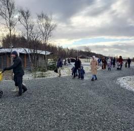 첫 눈 내린 사할린 녹산원농장 (2020.11…